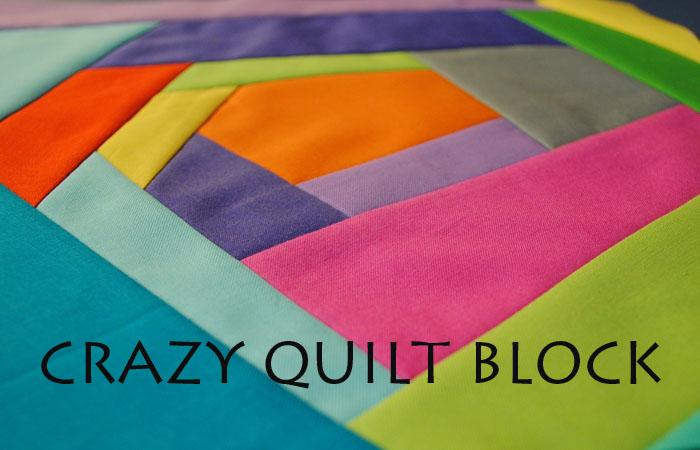 crazy quilt block tutorial