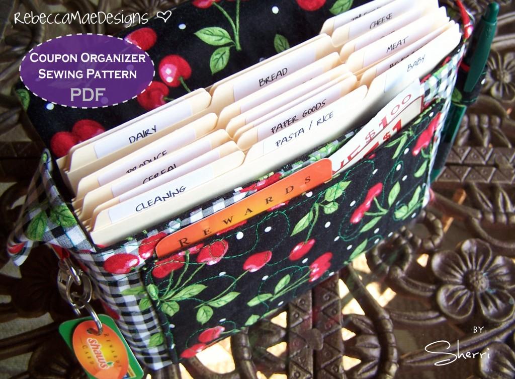 coupon holder organizer sewing pattern