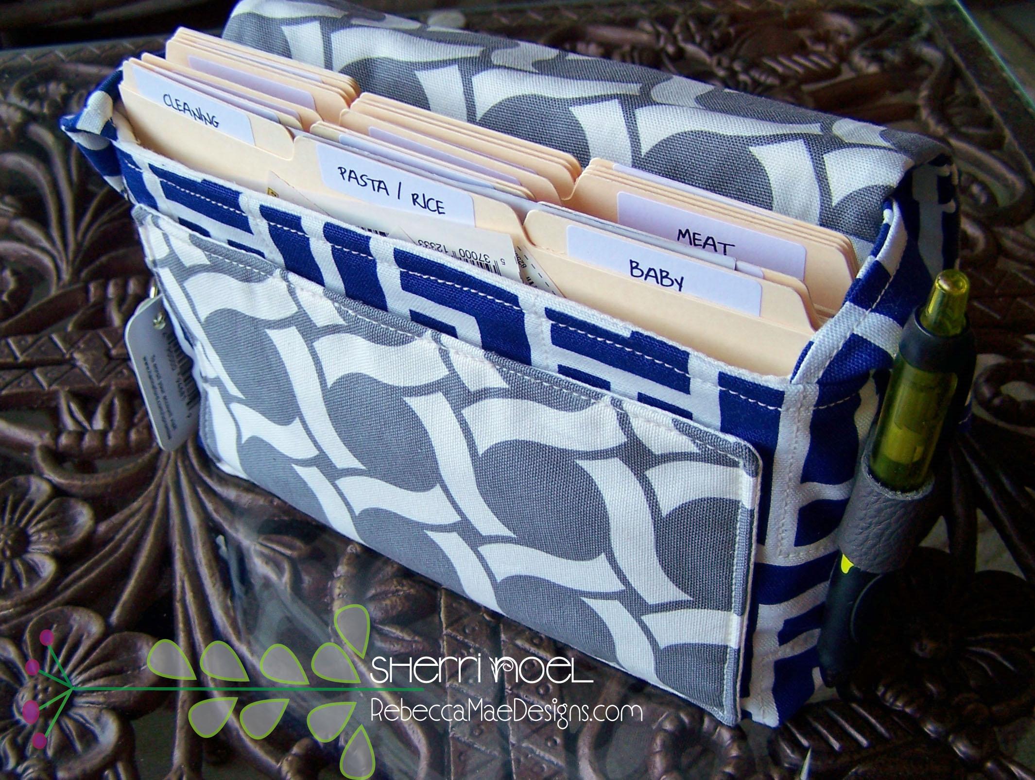 coupon holder and organizer bag pattern