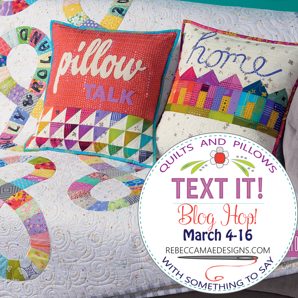 Text It! quilts and pillows with something to say