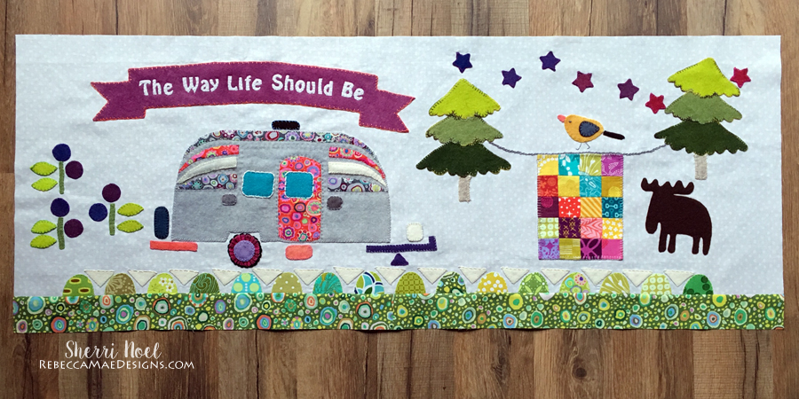 camper applique quilt pattern