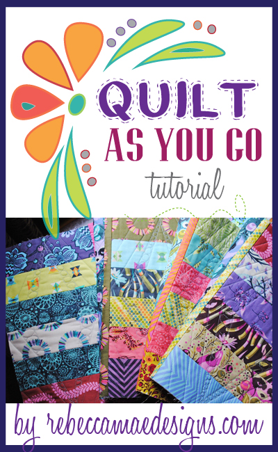 quilt as you go tutorial on joining quilted blocks