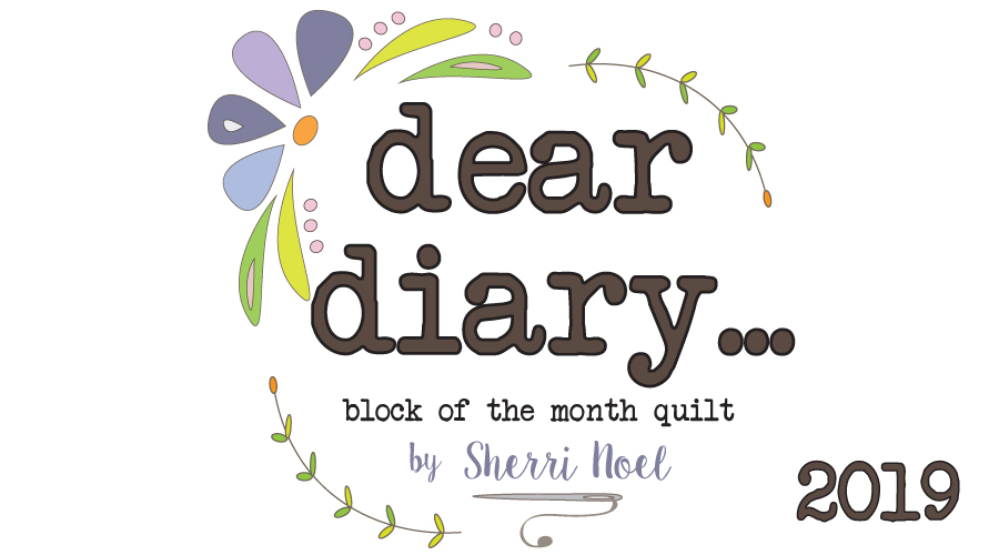 dear diary block of the month quilt pattern