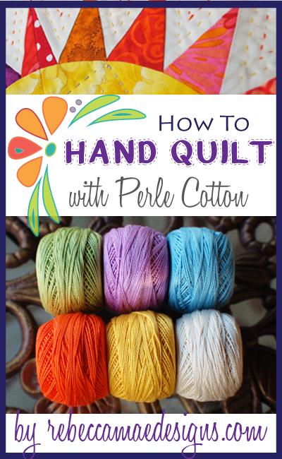 Big Stitches - How to hand quilt with perle cotton tutorial