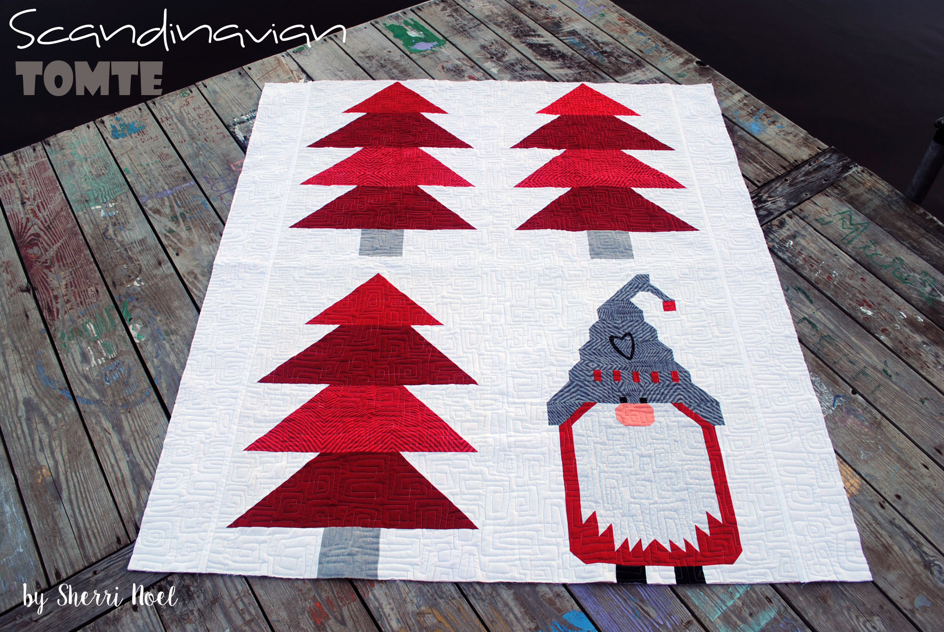 Christmas Quilt Patterns.Christmas Quilt Pattern Scandinavian Tomte